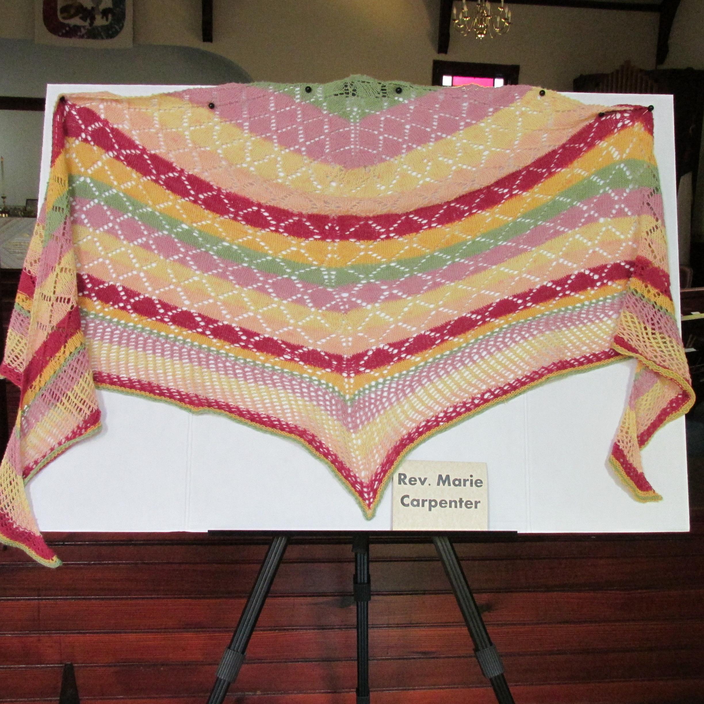 J2J Carpenter Fiesta shawl